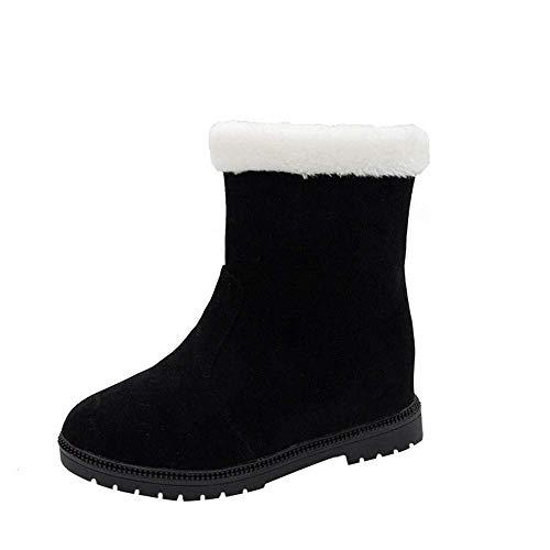 0bfb0caa0da2 Plate Bottes Femmes Cheville Désert D hiver Mi Qiusa Militaire Martin 10  Noir Garder Taille Lacets Chaude Chaussures ...