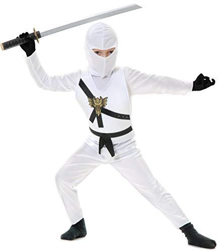 Charades Child's Ninja Avenger Costume, White,