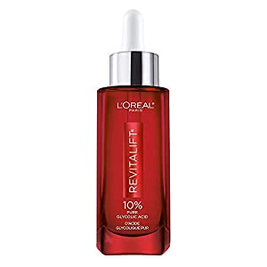 Glycolic Acid Peel Serum for Skin, L'Oreal Paris Revitalift Derm Intensives 10% Pure Glycolic Acid Serum | Dark Spot…