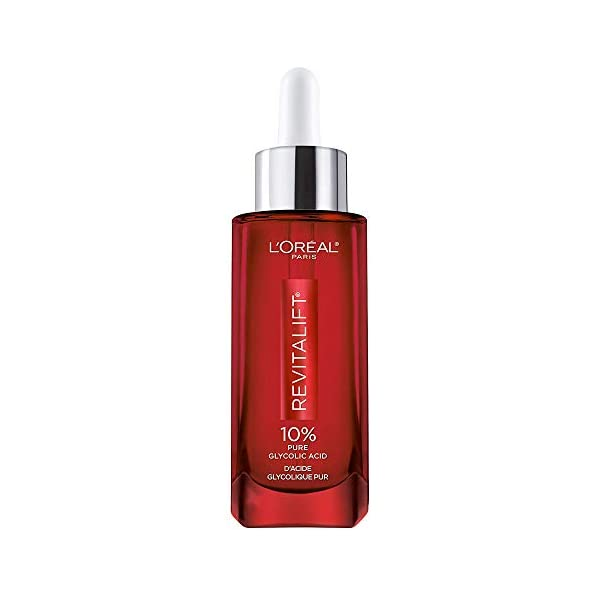 Glycolic Acid Peel Serum for Skin, L'Oreal Paris Revitalift Derm Intensives 10% Pure Glycolic Acid Serum | Dark Spot…