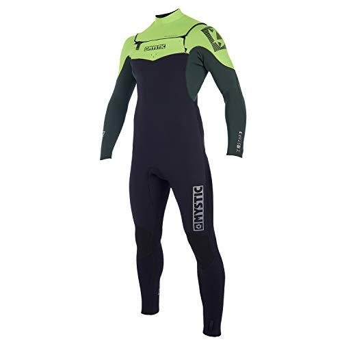 Mystic Star 5/4MM Winter Cold Weather Double Front Zip Wetsuit Teal - Critical Taping ()