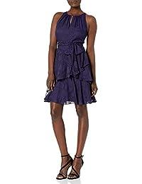 Women's Sleeveless Keyhole Neck Tiered Dress