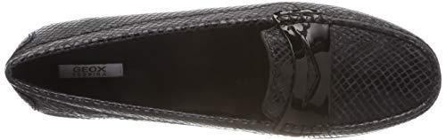 D Noir C9999 Mocassins black Geox loafers Elidia Femme A 6Yxwdqz