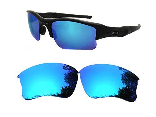 Galaxy Replacement lenses For Oakley Flak Jacket XLJ Sunglasses Polarized Ice ()