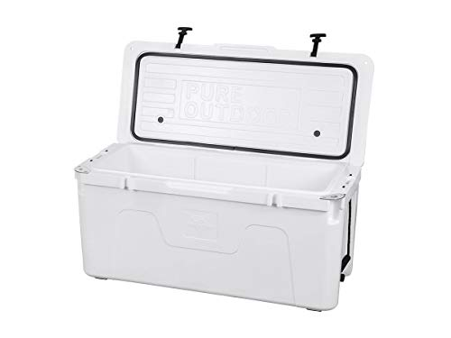 Monoprice Emperor Cooler - 160 Liters - White | Securely Sealed, Keeps Cold for 130 Hours & Hot for 150 Hours - Pure Outdoor Collection by Monoprice (Image #1)