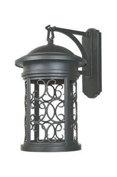 Oil Rubbed Bronze 1 Light 11in. Wall Lantern from the Dark Sky Barrington Collection by Designers Fountain