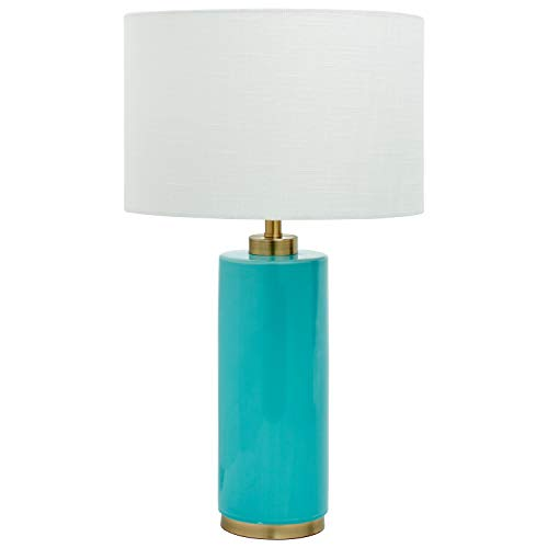 Rivet Modern Table Lamp, 22 H, Teal