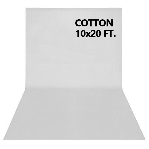 10x20' Muslin Background (10x20FT Photography Video Studio Background 100% Pure Cotton Muslin Collapsible Photo Backdrop - WHITE)