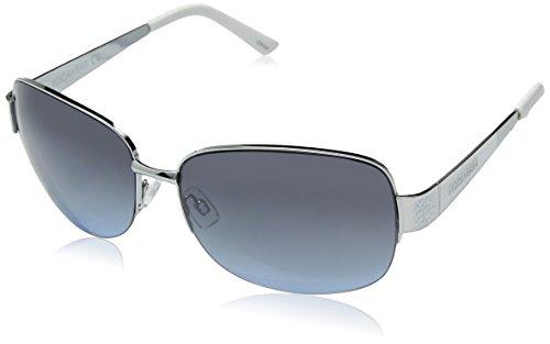 Rocawear Women's R578 Slvwh Non-Polarized Iridium Round Sunglasses, Silver White, 65 ()
