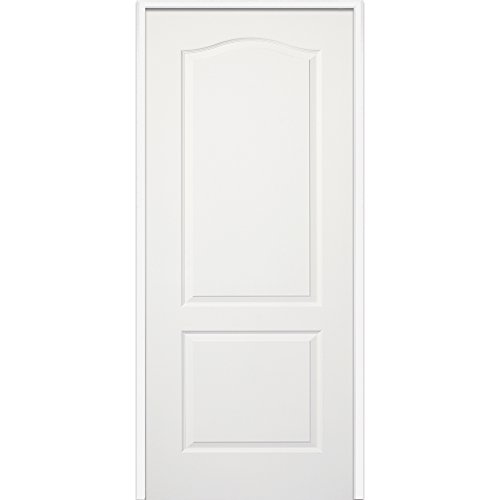 National Door Company Z009480L Solid Core Molded 2-Panel Arch Top, Left Hand Prehung Interior Door, 30'' x 80'' by National Door Company