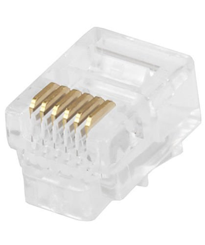 FYL 3x 50 RJ12 Modular Plug 6P6C 150 Pcs Pack Crimp On for Round Stranded Wire RJ-12