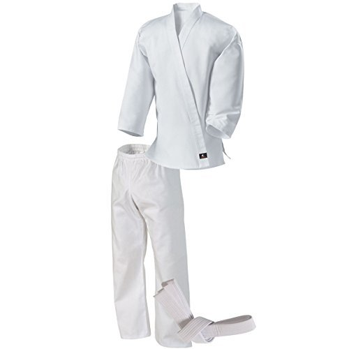 Century Martial Arts Middleweight Student Uniform with Elastic Pant - White, 0 - Child 6-8