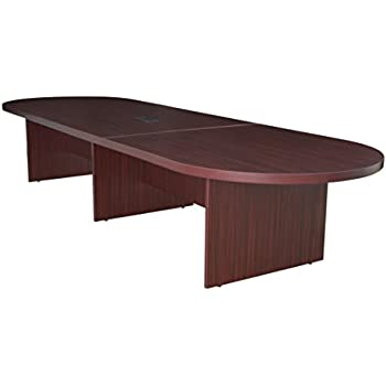 Regency Legacy 144 Inch Modular Racetrack Conference Table With Power Data  Grommet  Mahogany