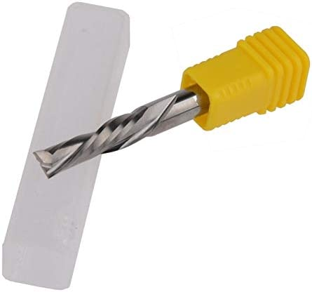 FLY MEN 5Pcs 3.1751.03mm Left Hand Single Flute Downcut Spiral Bits High Efficiency Cutting Wood Acrylic Plastic Plate