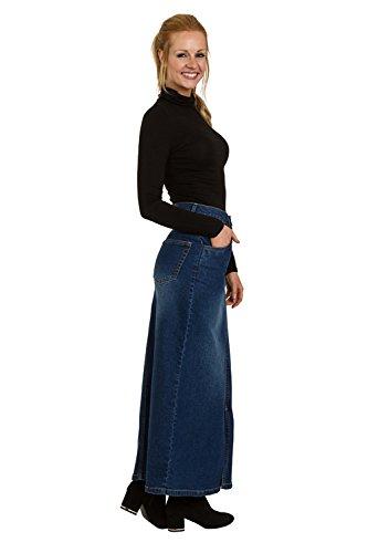 Fearne FEARNEMD Uskees EU Size Maxi Denim 50 Skirt Bleu 36 Jupe Longue H646ORdW