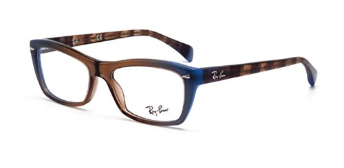 Ray-Ban Rx5255 (51) Eyeglasses RX5255 5490 Gradient Brown On Azure 53 16 - Eye Glasses Cat Ban Frames Ray
