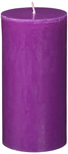 Zest Candle Pillar Candle, 3 by 6-Inch, Purple ()