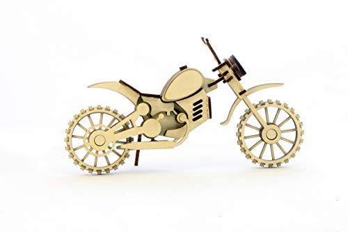 Lemmo Wooden Constructor Model Motorcycle Cross