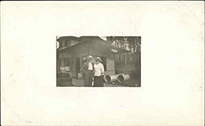 Photographic portrait of a couple Fallis, Kentucky Original Vintage Postcard