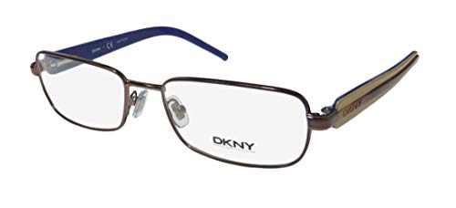 DKNY 5593 For Ladies/Women Designer Full-Rim Shape Strass Flexible Hinges Genuine Upscale Color Combination Eyeglasses/Spectacles (53-17-135, Brown/Havana/Beige)