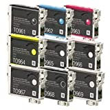 Zoomtoner New Compatible EPSON T096 UltraChrome K3 INK / INKJET Cartridge Set Photo Black Cyan Vivid Magenta Yellow Light Cyan Vivid Light Magenta Light Black Matte Black Light Light Black