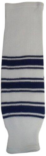 - DoGree Hockey Toronto Knit Hockey Socks, 32-Inch, White/Blue