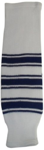 fan products of DoGree Hockey Toronto Knit Hockey Socks, 28-Inch, White/Blue