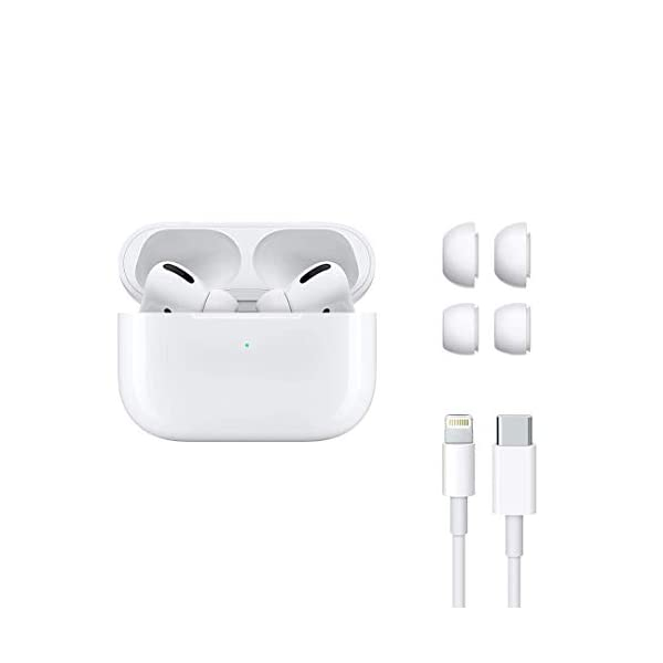 Airpods Pro with Wireless Charging Case & Charging Cable Compatible with iOS/Android (Master Copy) 3 31mnieKdF7L