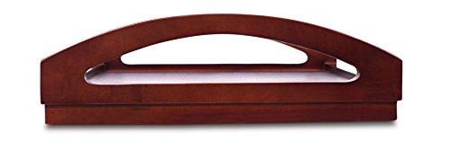 BirdRock Home Wooden Desk Tray   Breakfast Bed Wide Grip Folding Legs   Drink Snack Serving Tray Table Walnut