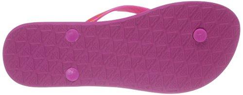 Roxy Mimosa V, Damen Zehentrenner Sandalen Mehrfarbig (Pink Stripe)