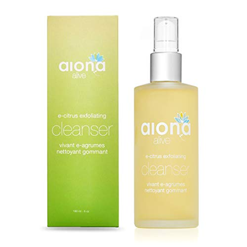 Aiona Alive E-Citrus Exfoliating Cleanser, Anti-Bacterial, Anti Acne Vitamin Face Wash and Makeup Remover Cleanser, 100% Natural Pore Cleanser for Men & Women, 6oz/180ml ()