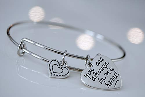 Sympathy Gift-Send to Memorial-Funeral or Home of Grieving -Bonded Hearts Bracelet