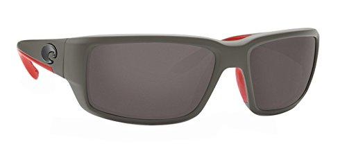 Costa Fantail Sunglasses Race Gray Frame / Gray 580P Plastic - Sunglasses Race