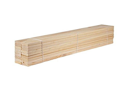 Palace Imports Pack of 18 Loose 100% Solid Pine Wood Slats for Twin Size Beds and Bunk Beds, 39.5