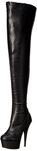 Str Faux Delight Mujer Leather Blk 3000 Blk Matte Pleaser Botas Yn7OwXOq