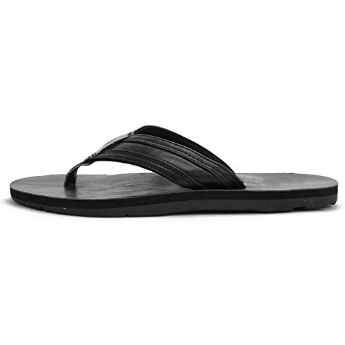 - Yomiafy Men's Casual Flip Flop Beach Shower Comfortable Arch Support Non-Slip Sandals(Black,US:10)