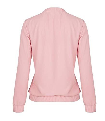 Soprabito Zip Outwear Ricamato Giacca Sankt Rosa Anteriore Womens Aperta Con CqgW5WxpRw
