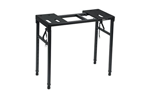 "Gator Frameworks Keyboard and Audio Utility Table with Multi Point Adjustability and Built in Leveling Bubble; Min/Max Height - 26""/44"" (GFW-UTILITY-TBL) from Gator"