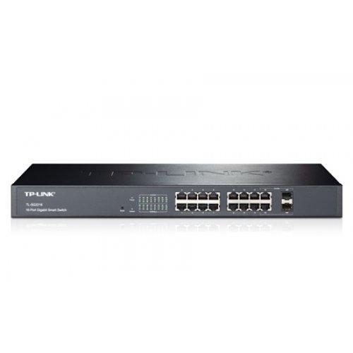 TP-LINK TL-SG2216 / 16PORT 10/100/1000MBPS RJ45 GB SMART SWITCH W/ 2COMBO SFP SLOTS