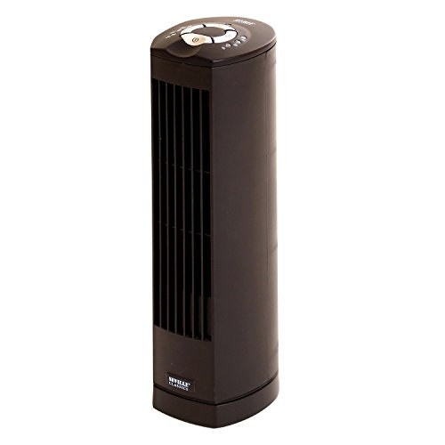 Seville Classics UltraSlimline 17 in. Oscillating Personal Tower Fan, Black