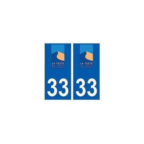 33 La Teste-de-Buch logo ville sticker autocollant plaque - droits