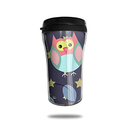 AUUOCC Flowers and Owls 8.5 Oz Tumbler-Vacuum Insulated Double Stainless Steel Water Bottle Travel Coffee Mug Cup