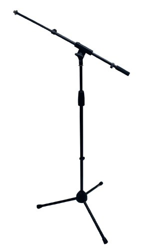 Shure SM57-LC Instrument/Vocal Cardioid Dynamic Microphone Bundle with Mic Boom Stand, XLR Cable, Mic Clip, and Bag