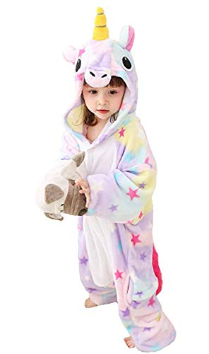 Tonwhar Costumes for Children Kids Cuddly Onesie Pajamas (120(Height:45.27