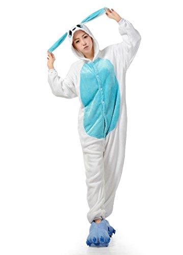 BIFINI Bunny Rabbit Kigurumi Pajamas Cosplay Funny Halloween Costumes Blue XL (Ladies Halloween Costumes Next Day Delivery)