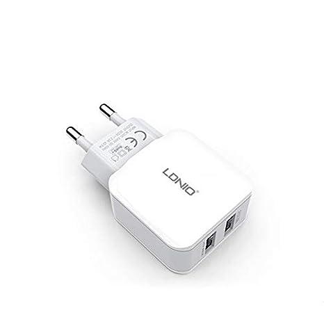 ZengBuks A2202 2.4A Dual USB Cargador rápido Head ...