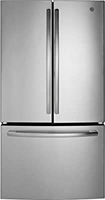 GE GNE27JSMSS 36 Inch French Door Refrigerator with 27 cu. ft. Total Capacity, in Stainless Steel