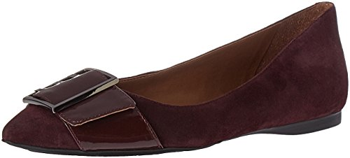 Wine Women's Sassy Fs Flat Ballet French Ny Sole 08txwnq1