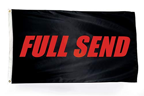 N CENTS 3x5 Foot Full Send Flag Black Polyester Nelk Nelkboys for The Boys Banner with Brass Grommets 3 X 5 FT