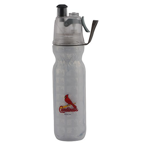 - O2Cool MLB Arctic Squeeze Insulated Mist 'N Sip St. Louis Cardinals Water Bottle, Multicolor